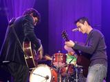 John Mayer and Joe perform at Harbor Yard in Bridgeport CT.