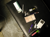 Makeup, iPod, and cigarettes.