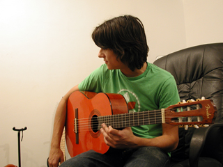 Teddy Geiger in the studio.