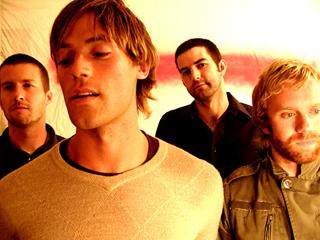Left to right: Drummer Rob Adams, guitarist Michael Jones, bassist Tim Peters, singer/guitarist Jared Marsh.