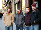 Left to right: Guitarist Michael Jones, singer/guitarist Jared Marsh, drummer Rob Adams, and bassist Tim Peters.