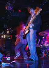 Bassist Tim Peters (front) and lead singer Jared Marsh rock out at the Paradise Rock Club in Boston.