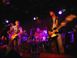 Left to right: Lead singer Jared Marsh, drummer Rob Adams and bassist Tim Peters at Bostons Paradise Rock Club.